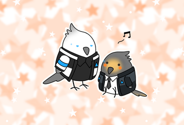 Detroit: become cockatiel by Nibuihime