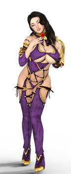 Joey Fisher cosplaying Ivy from Soul Calibur by VyseDyne