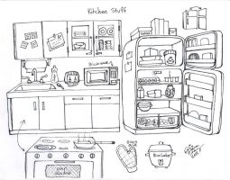 Draw Kitchen Stuff by Diana-Huang