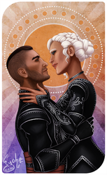 Dragon Age - BlackWall and Izna by Eyoha