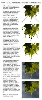How to do Realistic Droplets on Leaves by annewipf