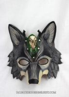 Druid Wolf Leather Mask by b3designsllc