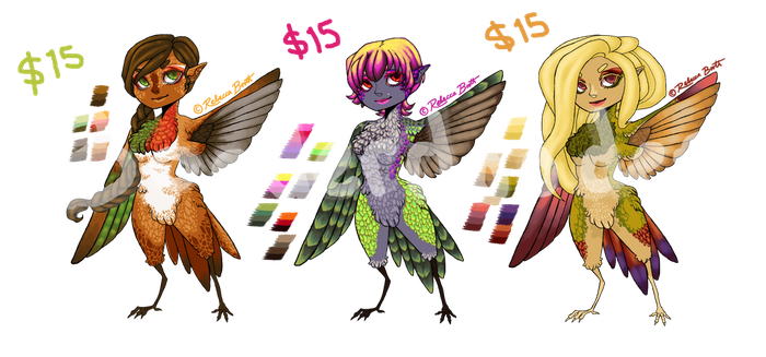 [OPEN] Hummingbird Girl Adoptables by Booderdooder