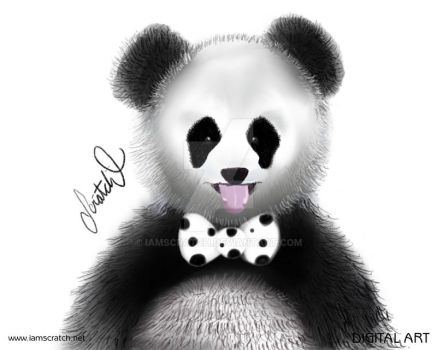 Bowtie Animals - Panda by iamscratch