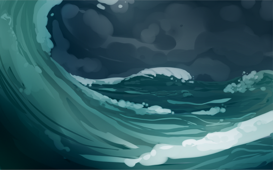 Sea Storm by powderberry