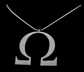 Alice's Omega Necklace by obsidiandevil