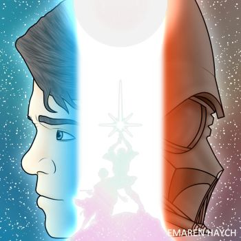 The Light, the Dark and the Balance (Coloured) by EMAREN-HAYCH