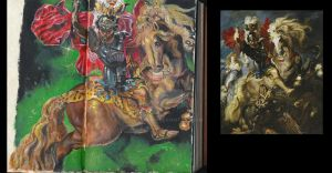 Rubens study of St. George and the Dragon by Ronanmc