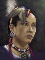 Native American Girl by Abraxa365