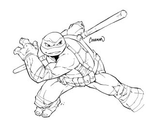 TMNT Donatello Sketch by RedCole84