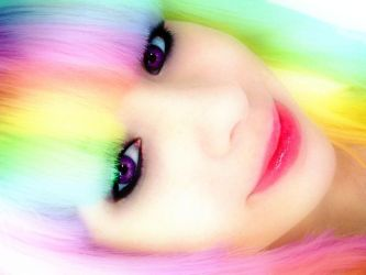 Rainbow Hair. by LordMcWhiskers