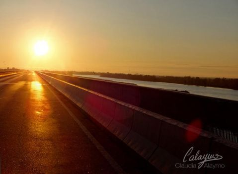 Highway dawn by Calaymo