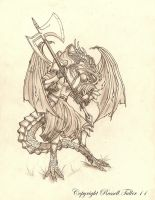 Dragon Warrior  Battle Stance by RussellTuller