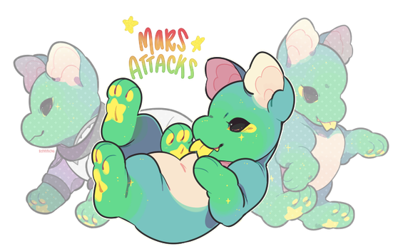 Mars Attacks Plush Dragon Auction - SOLD by stormcat