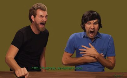 Rhett and Link Ghost pepper challenge by HuzRedy