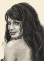 Lea Michele drawing by Bluecknight