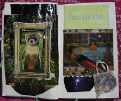 1st Altered Book 11, Favorites by angelstar22