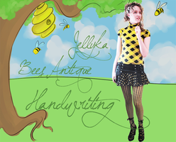 Bees Antique Handwriting by Jellyka