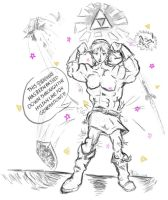 When Link gets the Triforce .. by Chrishankhah