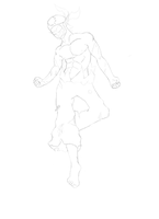 Sacrier W.I.P Sketch finished by MourantLune