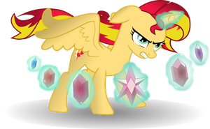 Alicorn Sunset Shimmer with Elements by TheShadowStone