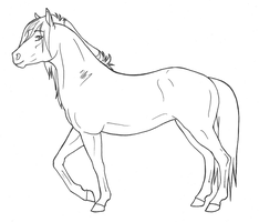 Mare lineart - FREE USE by Janaita
