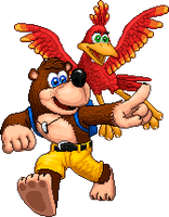 Banjo and Kazooie Pixel Art by Lisnovski