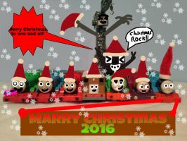 Thomas  Friends say Merry (LATE) Christmas 2016 by TrainboysArtwork