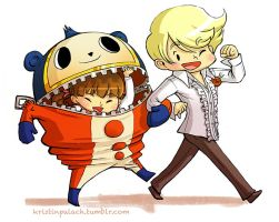 P4 Teddie and Nanako by mystcloud