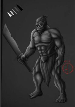 the orcish brute of the ravage tribe  by MrMatsui