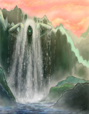 The Waterfall Spirit by Merina-Sky
