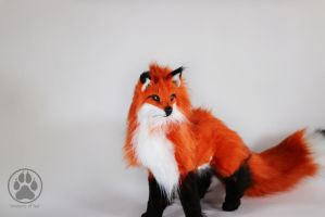 SOLD Fox Commission poseable artdoll OOAK! by CreaturesofNat