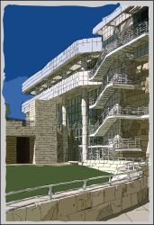 getty centre sketch by nancy-boy