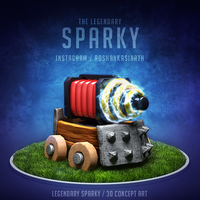 Legendary Sparky from Clash Royale by roshankasinath