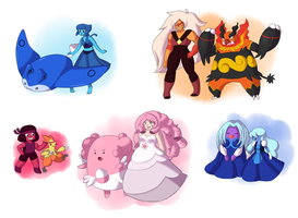 Pokemon x Steven universe- Pokemon trainers Pt.2