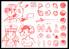 Pokemon Sketchdump 02 by Ahkward