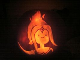 Flame Princess pumpkin by JDGowing