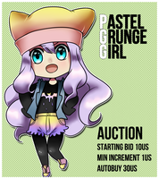 [AUCTION] ADOPTABLE Pastel Grunge Girl by Betachan