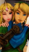 MMD Selfie: Link and Zelda by Kaichansan