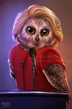USA elections 2016 - Owlary Clinton by 4steex
