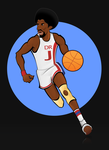 Julius Erving illustration by tomeqq