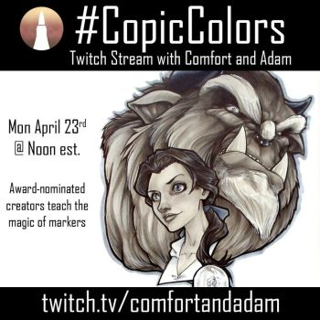 Official Copic Marker Twitch Stream by ComfortLove