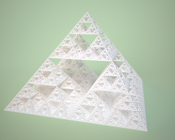 Square cone sierpinsky pyramid by usere35