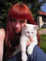 With white cat by Luczynka