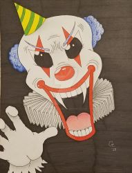 clown by howlingwolfimages