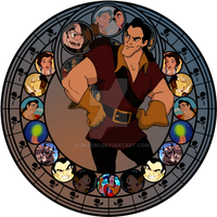 Gaston Stained Glass by jeorje90
