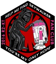 Kylo Ren and KT patch design - 2016 R2-KT Fan Club by siebo7