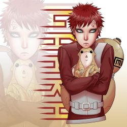 Poke Gaara throw pillow by Zyephens-Insanity