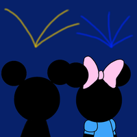 Happy 2017 with Mickey and Minnie by MarcosPower1996