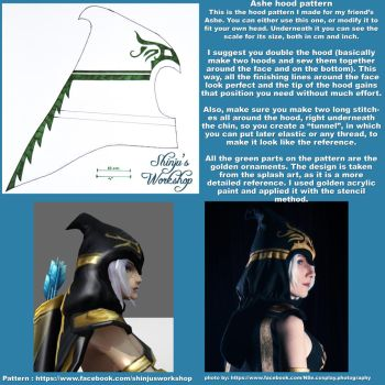 Ashe Hood pattern and tutorial by ShinjusWorkshop